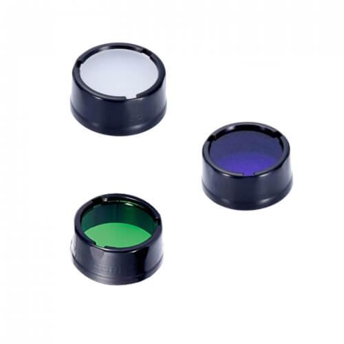 NiteCore Filter 25,4mm Set blau/weiß/grün