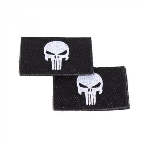 Punisher Totenkopf Patch schwarz 2er Set