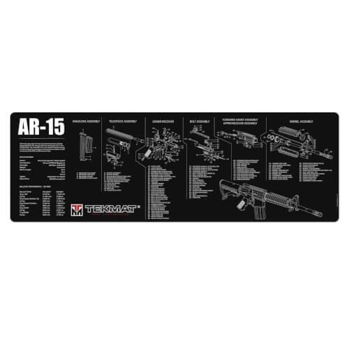 TEKMAT AR-15 Waffenreinigungsmatte 12x36 Zoll schwarz