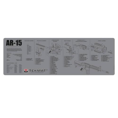 TEKMAT AR-15 Waffenreinigungsmatte 12x36 Zoll grau