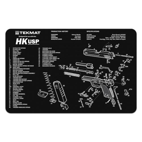 TEKMAT Heckler & Koch USP Waffenreinigungsmatte 11x17 Zoll