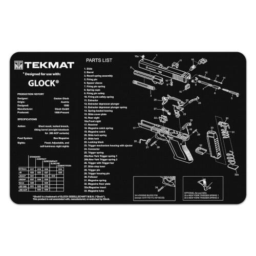 TEKMAT Glock Waffenreinigungsmatte 11x17 Zoll