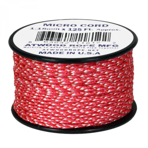 Atwood Rope MFG Micro Cord rosa/weiß