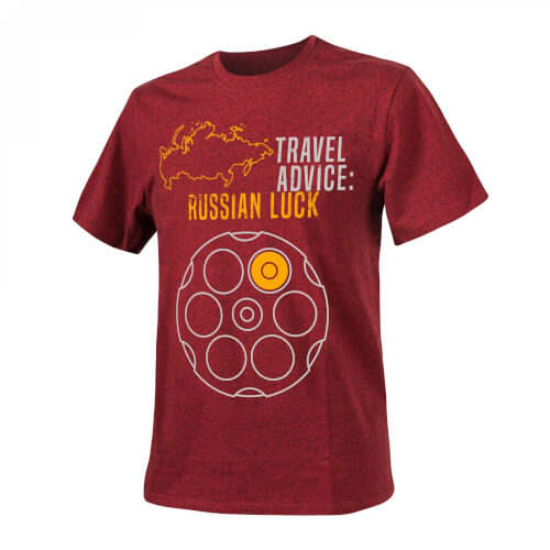 Helikon-Tex T-Shirt (Travel Advice: Russian Luck) - Melange Red