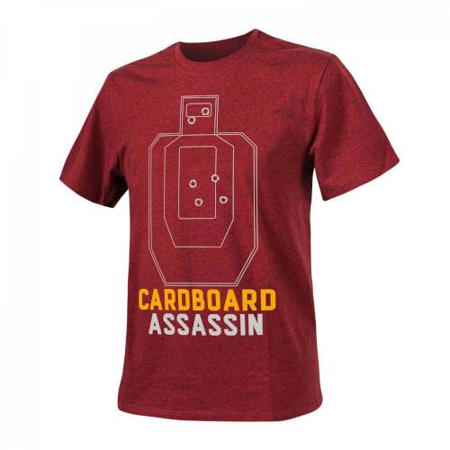 Helikon-Tex T-Shirt (Cardboard Assassin) - Red/Black Melange
