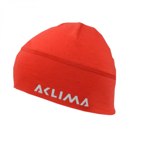 Aclima Lightwool Beanie Hight Risk Red