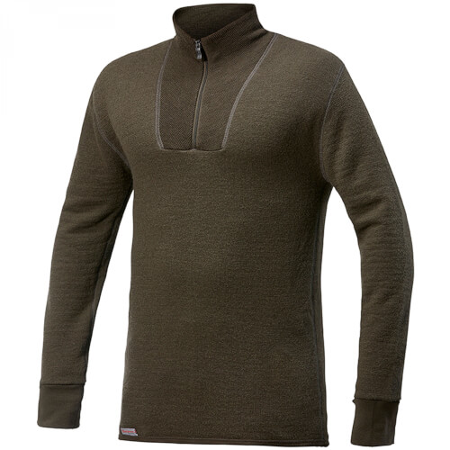 Woolpower Zip Turtleneck 400 pine green