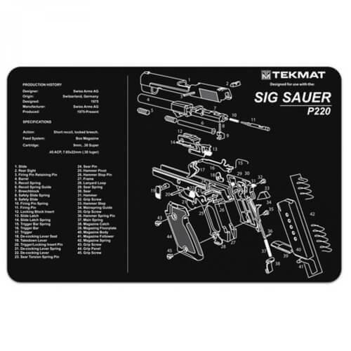 TEKMAT Sig Sauer P220 Waffenreinigungsmatte 11x17 Zoll