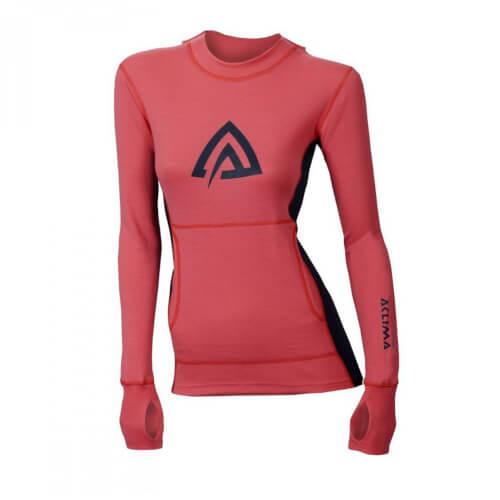 Aclima Warmwool Hood Sweater Woman Calypso Coral/Peacoat