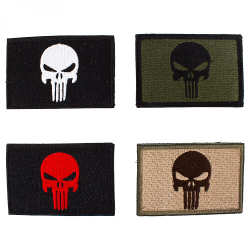 HCS Punisher Totenkopf 4er Set