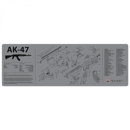TEKMAT Ak-47 Waffenreinigungsmatte 12x36 Zoll grau