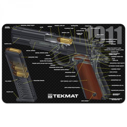 TEKMAT 1911 3D Waffenreinigungsmatte 11x17 Zoll