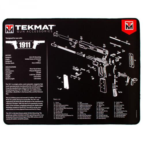 TEKMAT 1911 Ultra Premium Waffenreinigungsmatte 15x25 Zoll schwarz