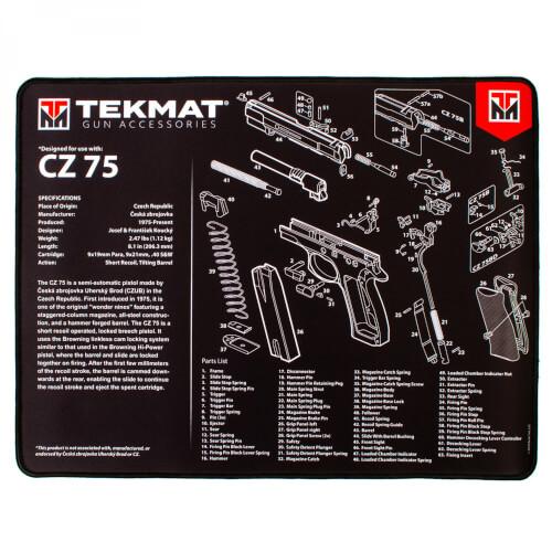 TEKMAT CZ 75 Ultra Premium Waffenreinigungsmatte 15x25 Zoll schwarz