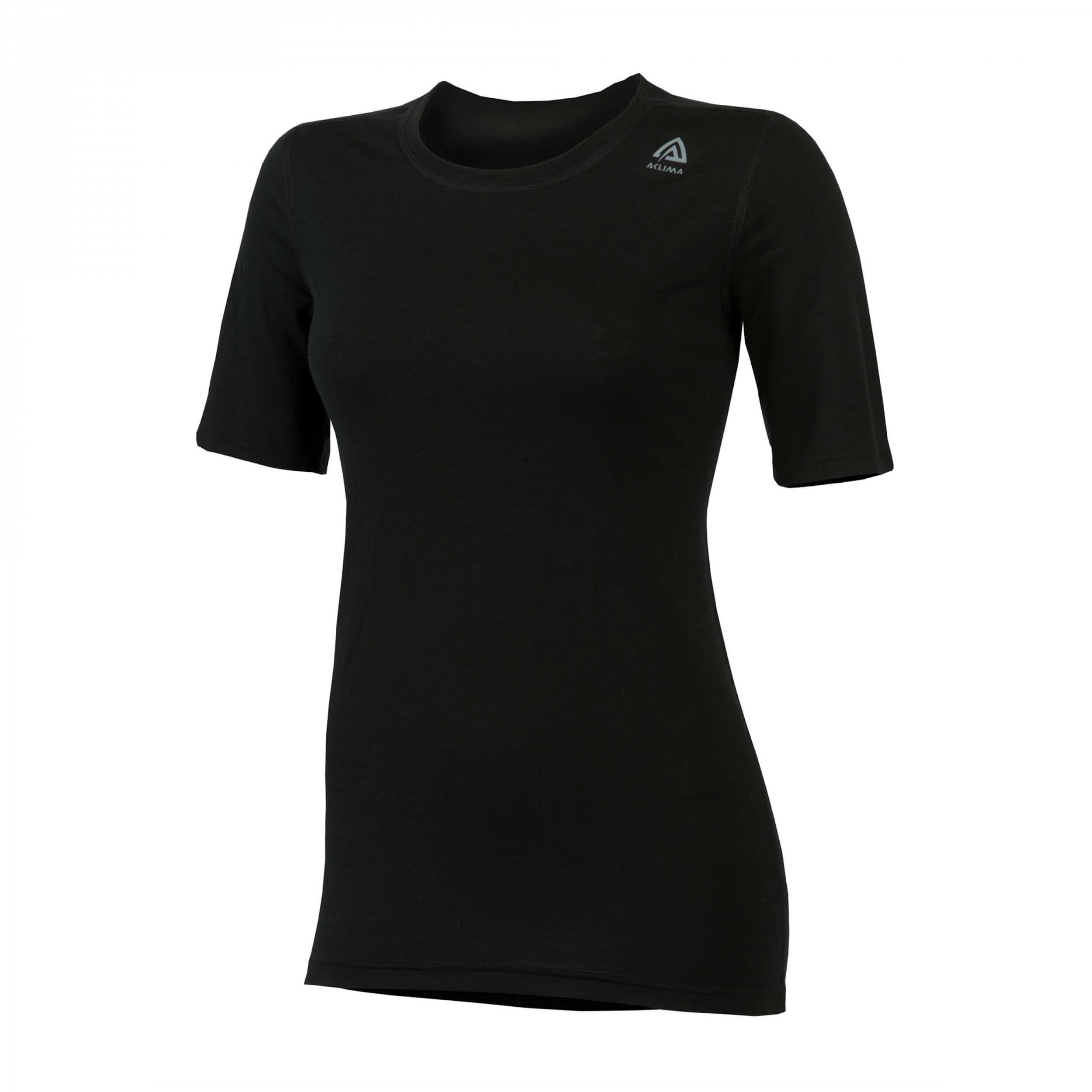 Aclima Lightwool T-Shirt Classic Women Jet Black