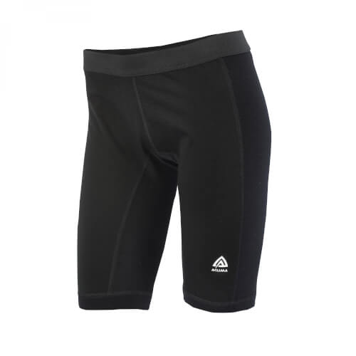 Aclima Warmwool Shorts long windstop Women Jet Black