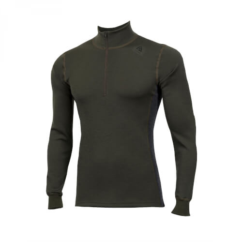 Aclima Warmwool Mock Neck Man Olive Night/ Marengo