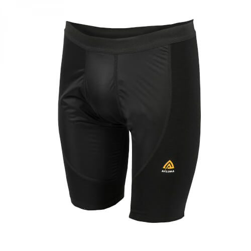 Aclima Warmwool Shorts long windstop Man Jet Black