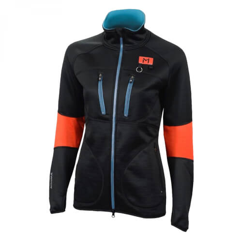 Aclima Lars Monsen Anárjohka Jacket Damen Jet Black/Poinciana/River Blue