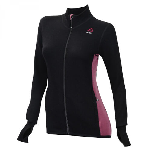 Aclima Hotwool Jacket Women Jet Black/Damson
