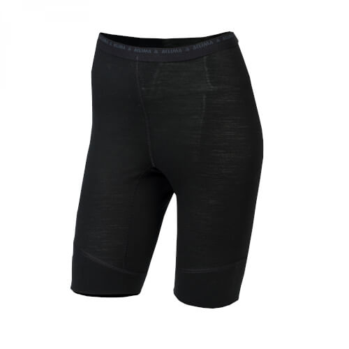 Aclima Lightwool Shorts long Women Jet Black