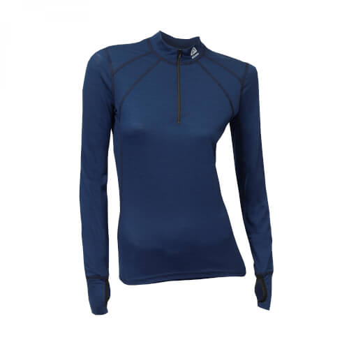 Aclima Lightwool Zip Shirt Women Insignia Blue