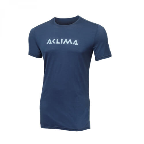 Aclima Lightwool T-Shirt LOGO Man Insignia Blue