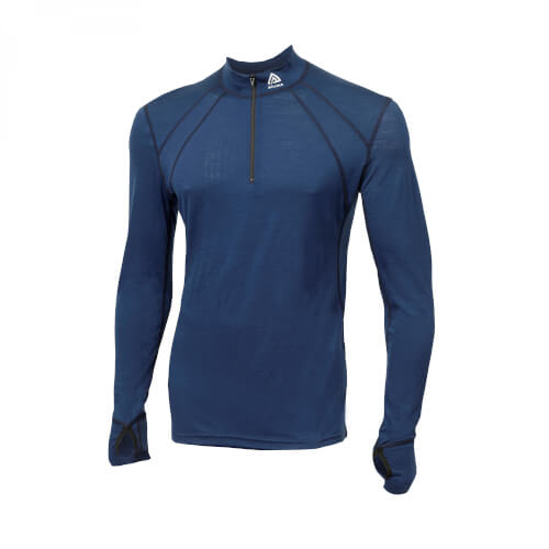 Aclima Lightwool Zip Shirt Man Insignia Blue