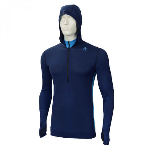 Aclima Lightwool Hoodie Man Insignia Blue/ Blithe