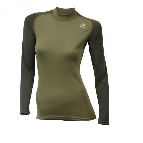 Aclima Warmwool Crewneck Women Capulet Olive/ Night