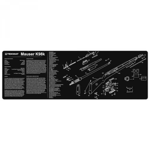 TEKMAT Mauser K98 Waffenreinigungsmatte 12x36 Zoll