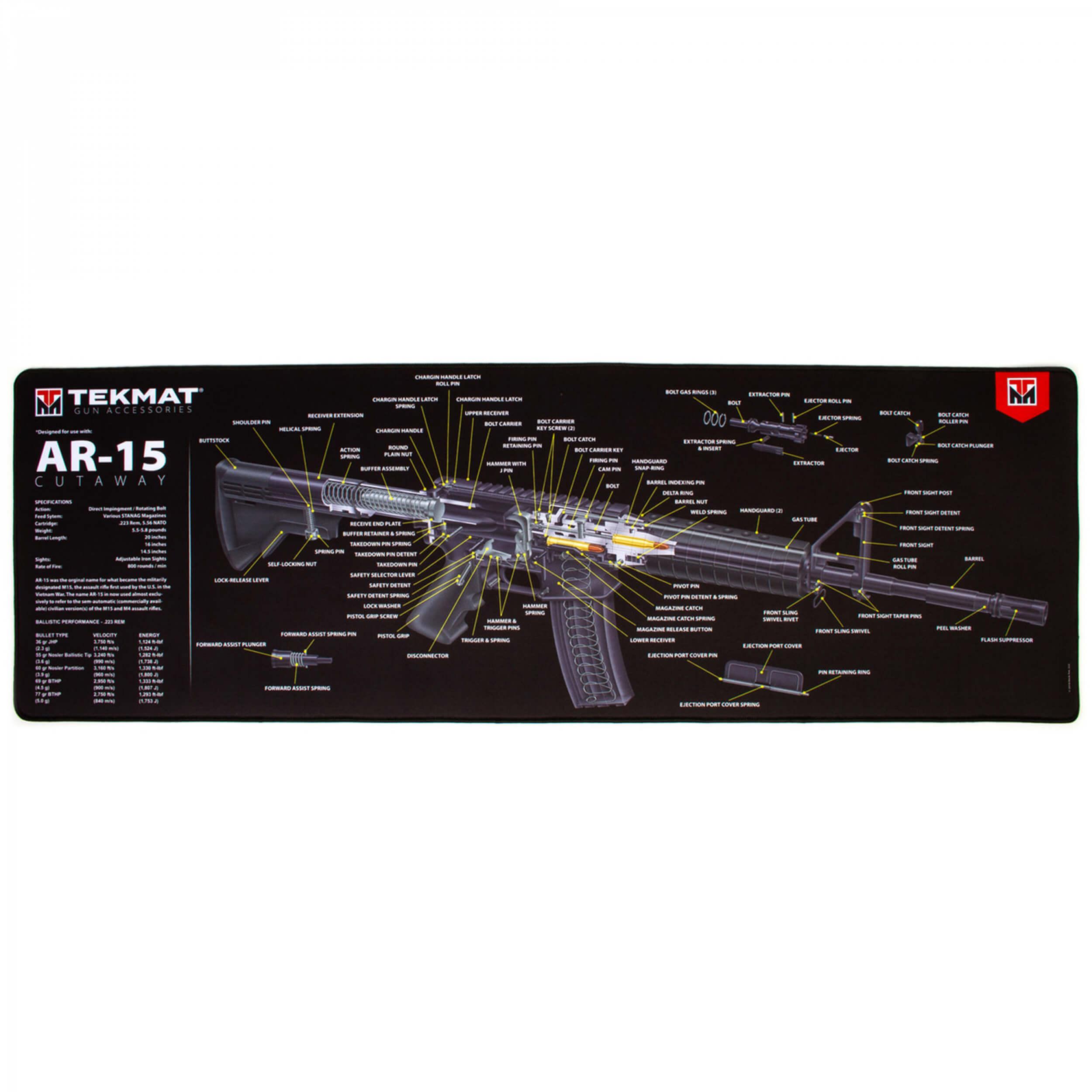 TEKMAT AR-15 Cut Away Ultra Premium Waffenreinigungsmatte 15x44 Zoll