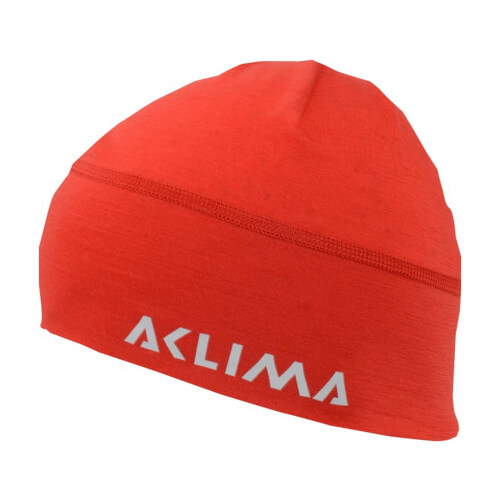 Aclima Lightwool Beanie High Risk Red/ Ranger Green