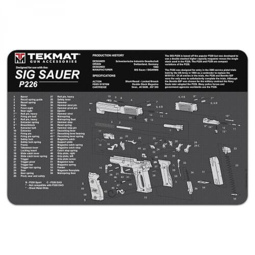 TEKMAT Sig Sauer P226 Waffenreinigungsmatte 11x17 Zoll