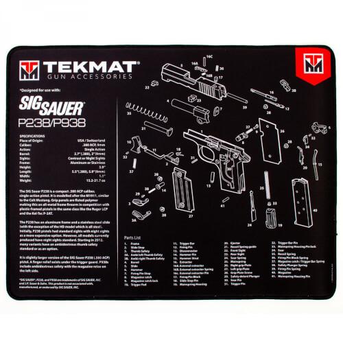 TEKMAT Sig Sauer P238/P938 Ultra Premium Waffenreinigungsmatte 15x25 Zoll