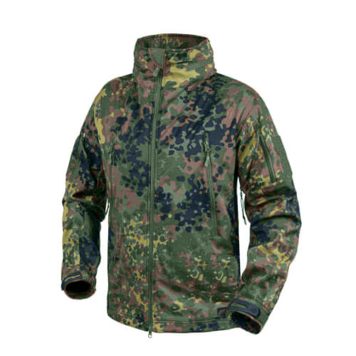 Helikon-Tex Gunfighter Jacke - Shark Skin Windblocker flecktarn