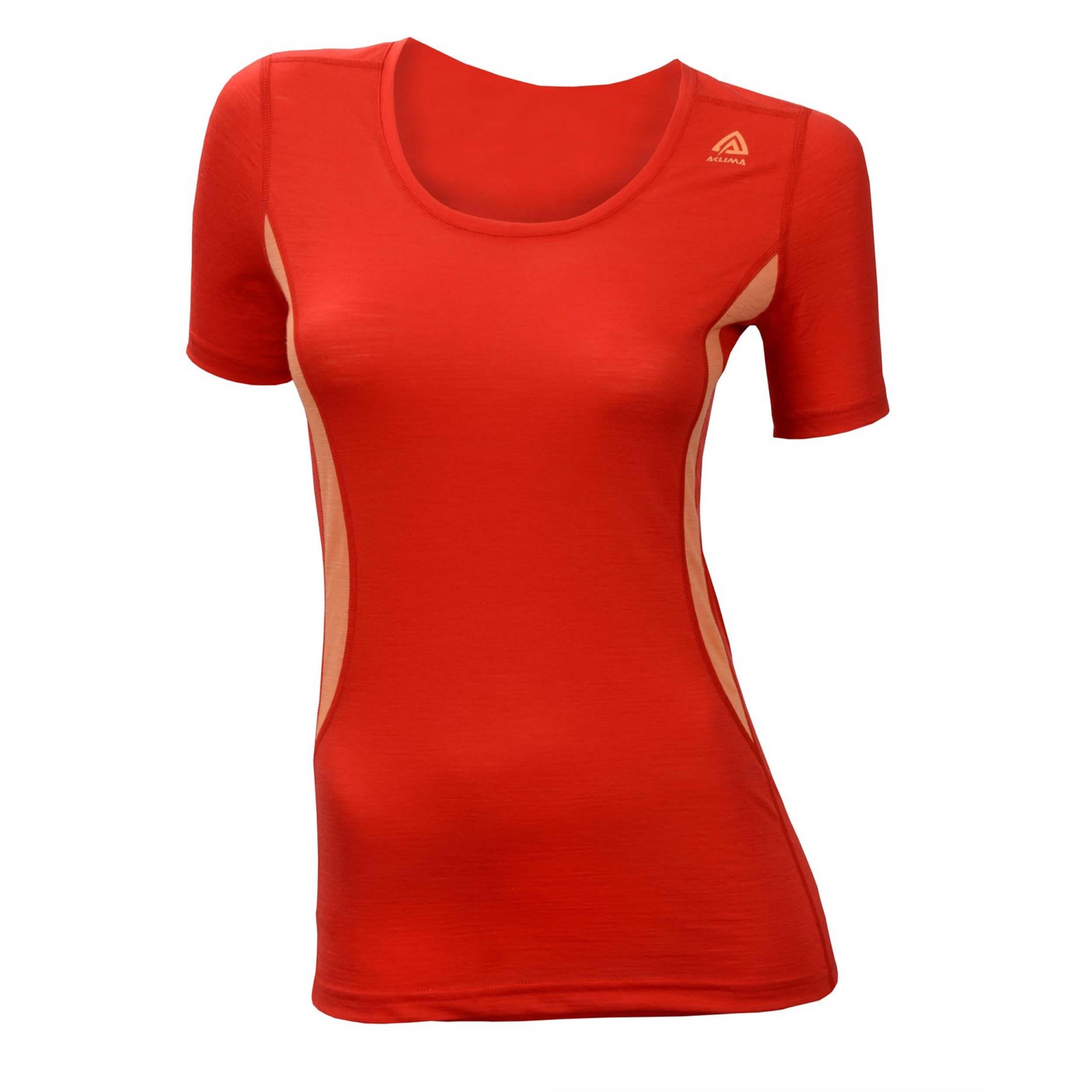 Aclima Lightwool T-Shirt R-neck Women high risk red