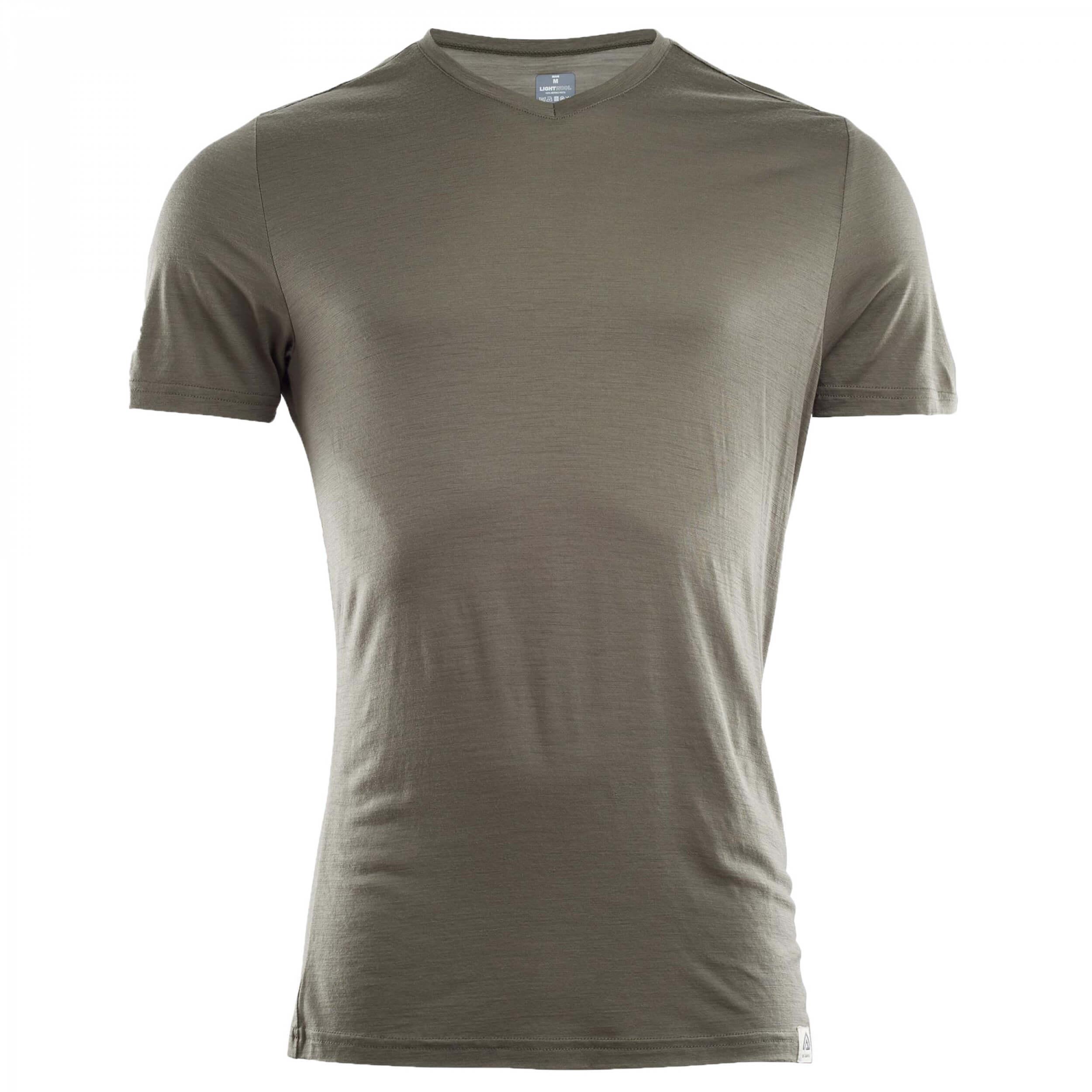 Aclima Lightwool T-Shirt Vneck Man Ranger Green