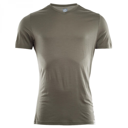 Aclima Lightwool T-Shirt Vneck Man Ranger Green