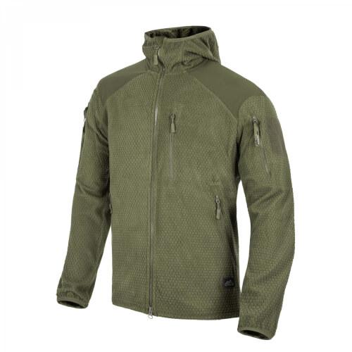 Helikon-Tex ALPHA HOODIE Jacket - Grid Fleece olive green