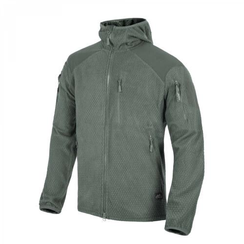Helikon-Tex ALPHA HOODIE Jacket - Grid Fleece shadow grey