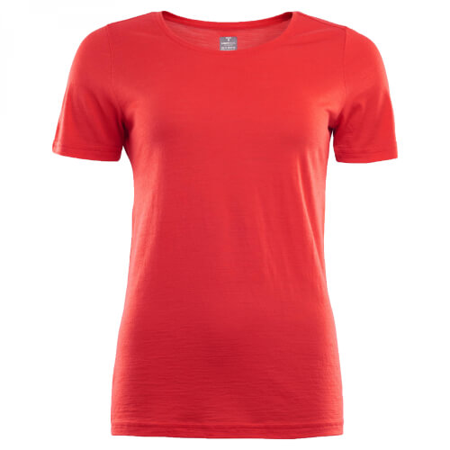 Aclima Lightwool T-Shirt Women high risk red