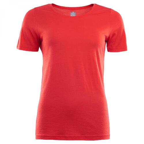Aclima Lightwool T-Shirt Women high risk red