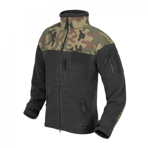 Helikon-Tex Infantry Jacke - Fleece black/ pl woodland