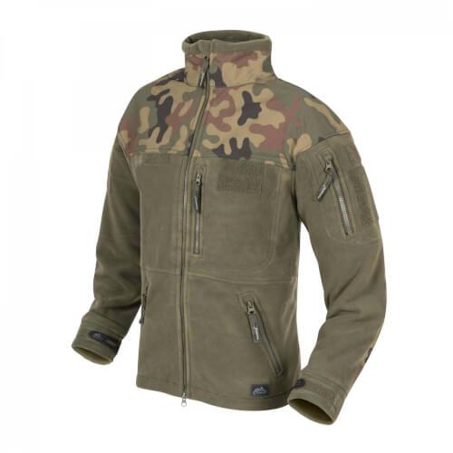 Helikon-Tex Infantry Jacke - Fleece olive green/ pl woodland