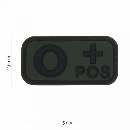 101 Inc 3D PVC Patch blood type O+ positive oliv