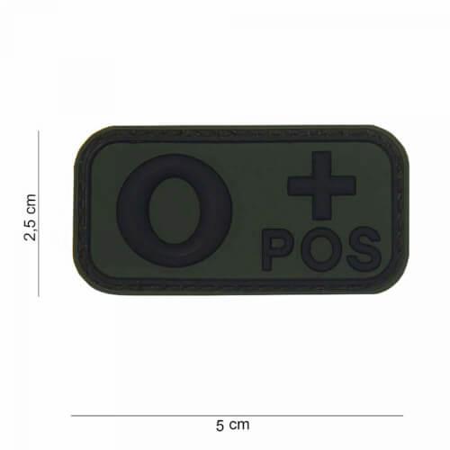 101 Inc 3D PVC Patch blood type O+ positive oliv