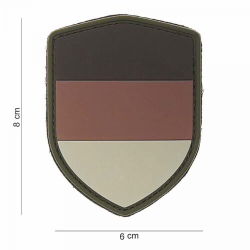 101 inc 3D PVC Patch shield German desert