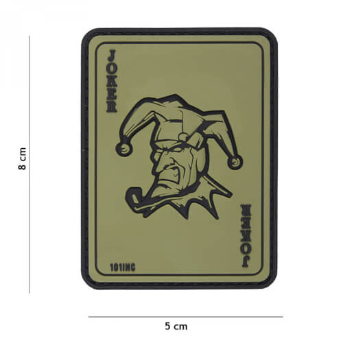 101 inc 3D PVC Patch Joker green