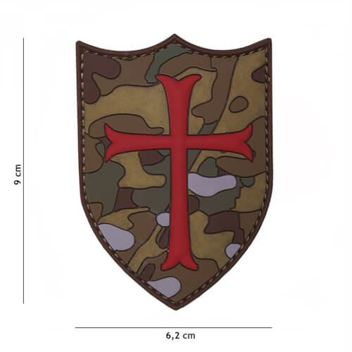 101 inc 3D PVC Patch Crusader multi